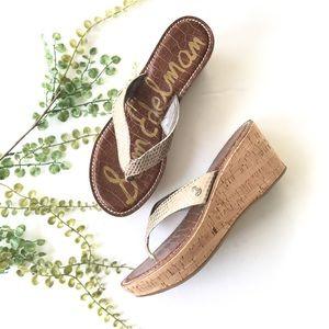 Sam Edelman wedge NWOT Romy sandals tan cream